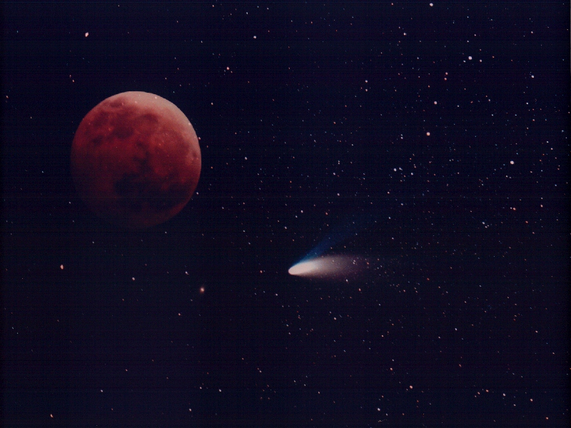 Comet and Moon